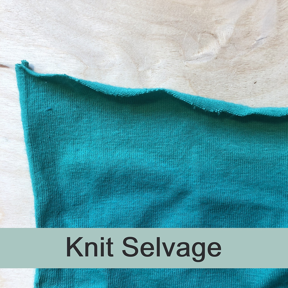 Knit fabric selvage in woven fabric vs knit fabric
