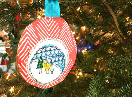 On the 9th Day of Stitchmas... Applique Ornament Tutorial