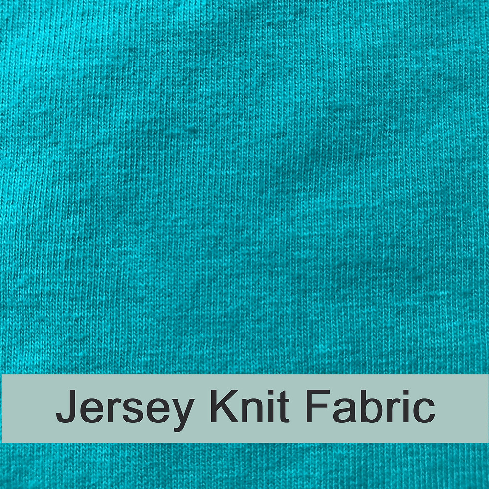 Jersery knit fabric grain in woven fabric vs knit fabric