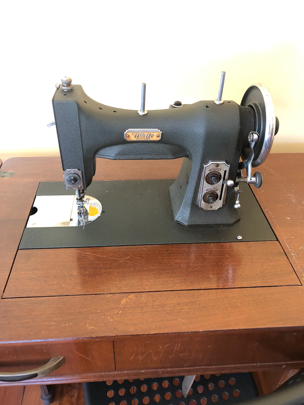 Vintage White Sewing Machine | How to Set up a Sewing Room with Hartford Stitch