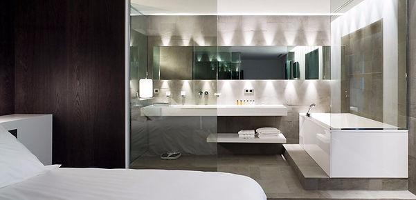 Aménagement intérier salle de bain paroie de douche