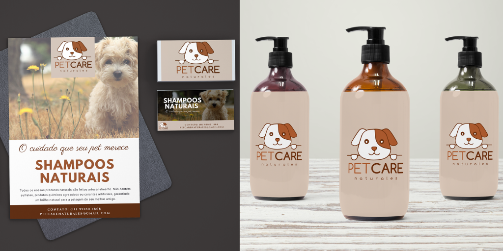 Flyer e Etiqueta - Pet Care Naturales