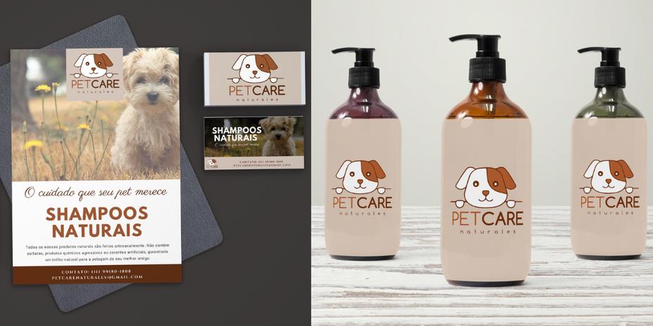 Flyer e Etiqueta - Pet Care Naturales