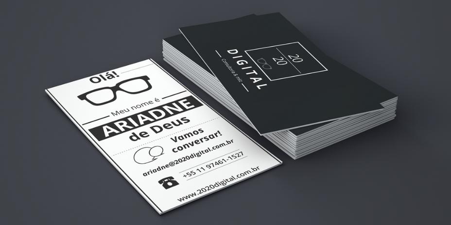 Logo e Cartão de Visita - 2020 Digital