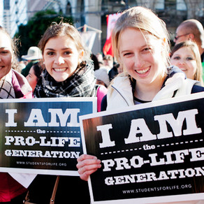 The 40 Days for Life team chatted with a cheerful woman outside the abortion business.