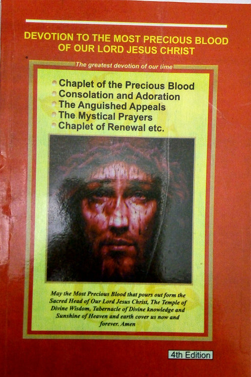 Devotion to the Most Precious Blood Prayer booklet, 4th edition.