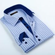 Blue Checkered LS Shirt