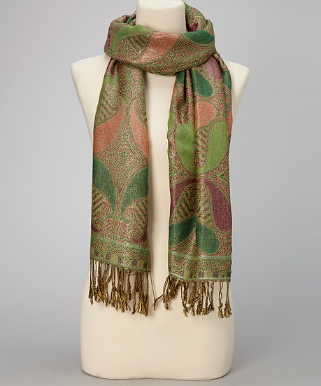 Green Paisley Scarf