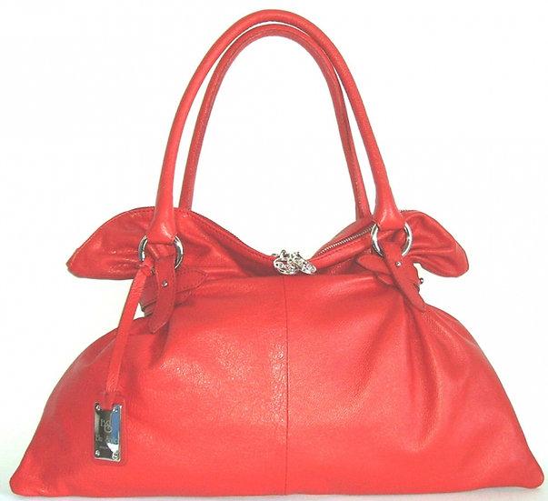 Red Genuine Italian Leather Satchel