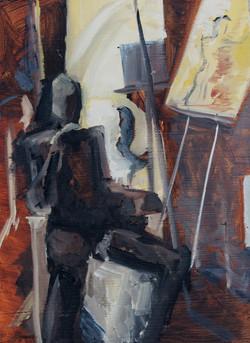 Dark Seated Figure