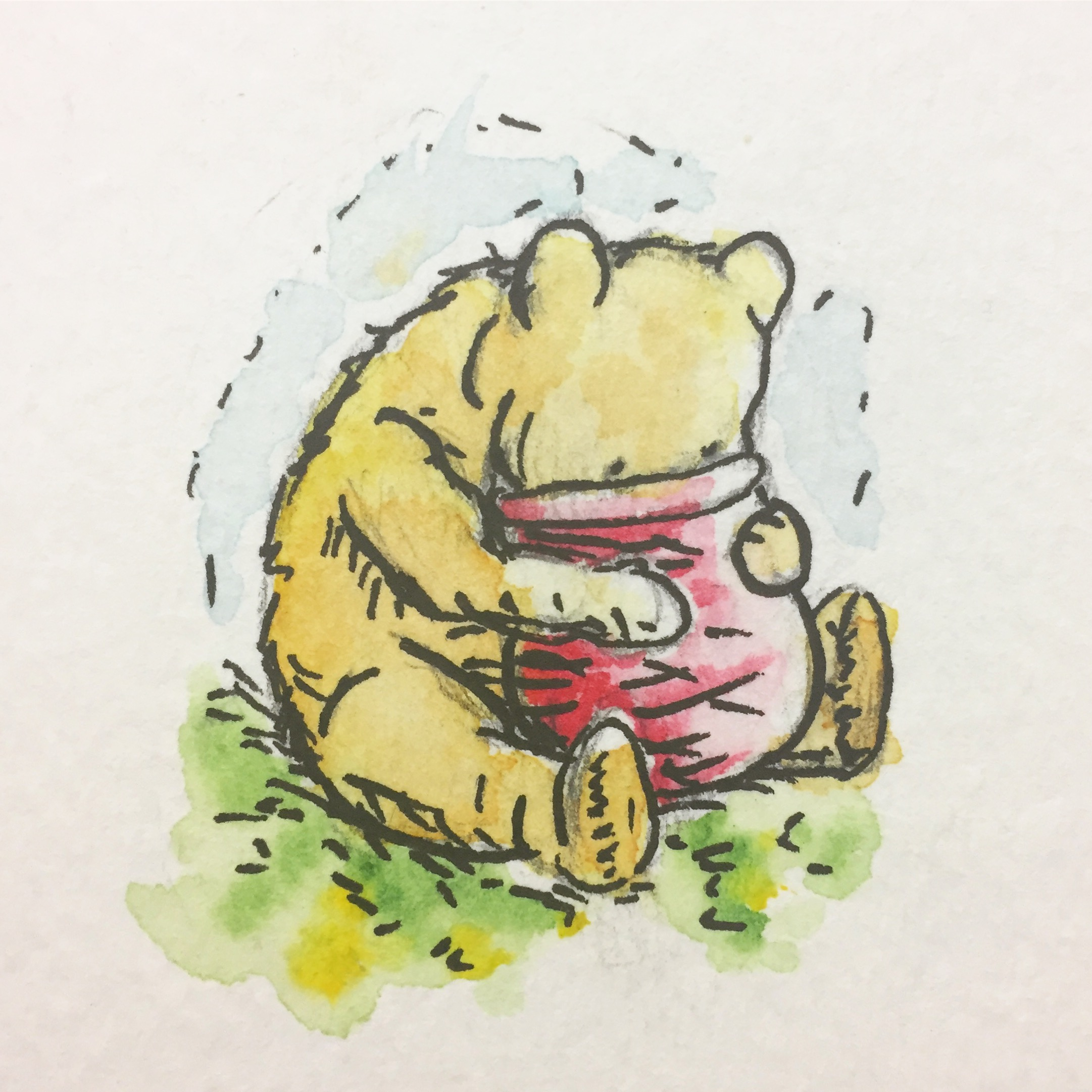 Pooh Stuck in the Honey