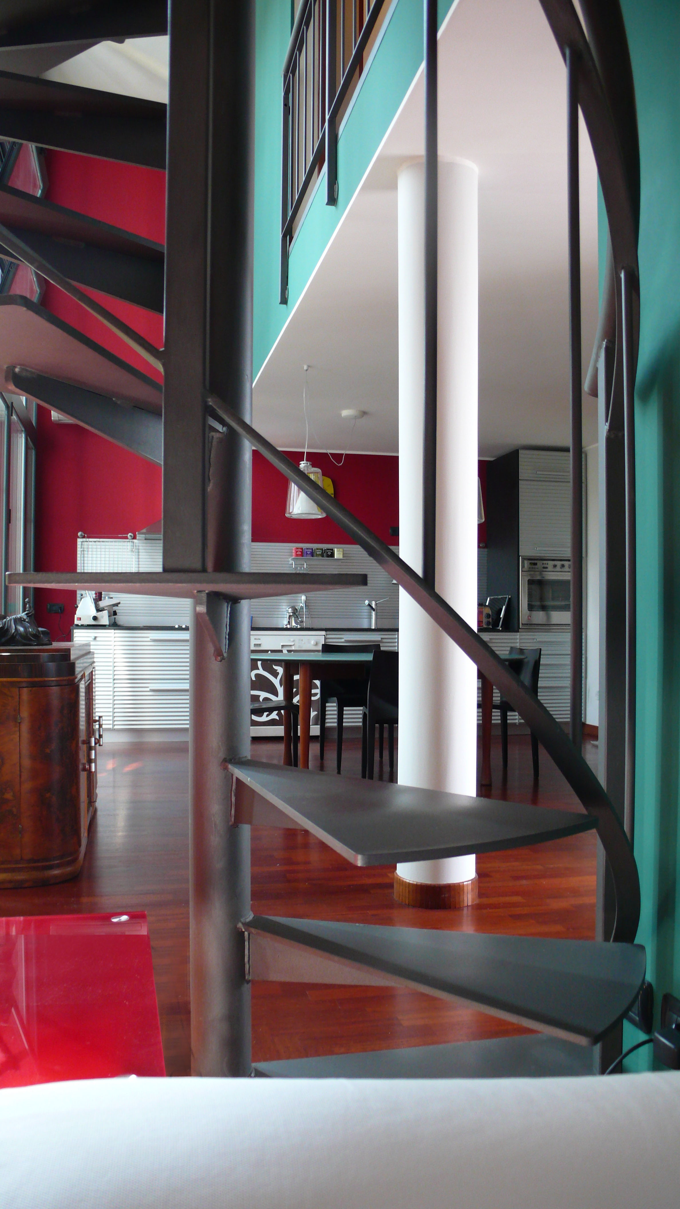 Vista cucina da zona soggiorno