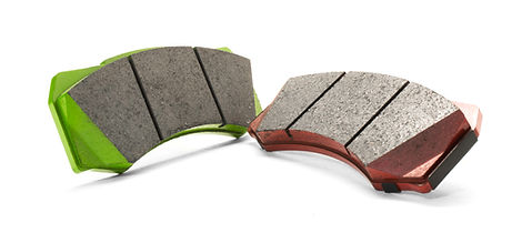 Nashin G-Series Red and Green Brake Pads