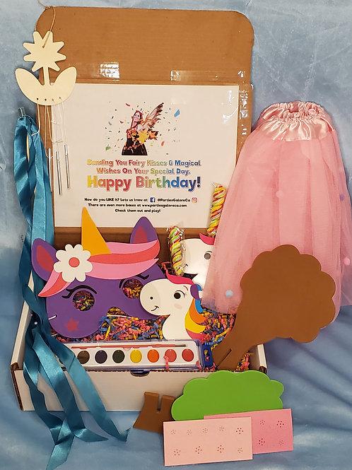 Unicorn Birthday Box // Quarantine Gift Box // Kids Activity Box