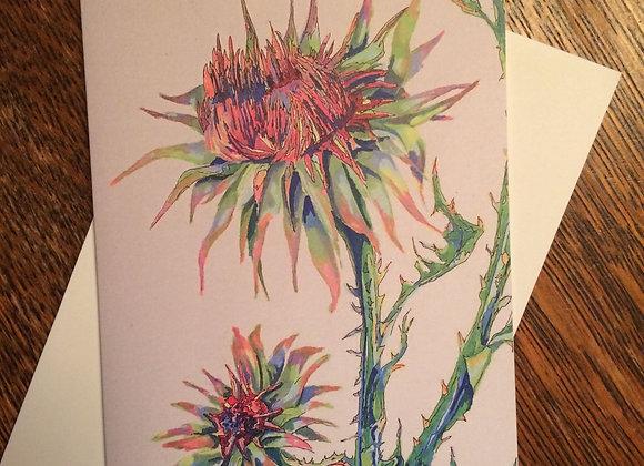 Thistle Botanical GreetingCard