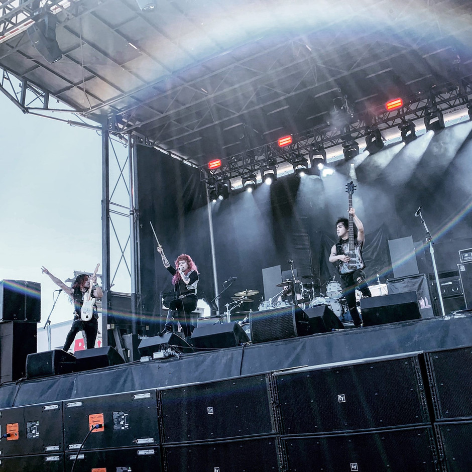 A Rainbow When We played Oysterbake