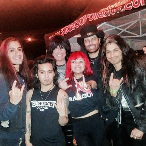 With Michael Angelo Batio and Neil Turbin (Former Anthrax)