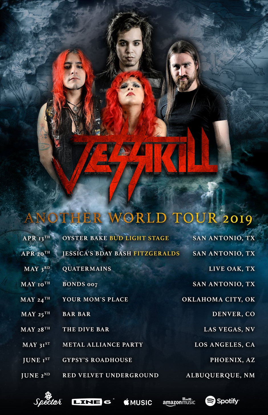 May 10 Jessikill Tour Kickoff at Bonds 007 | 2019 Another World Tour