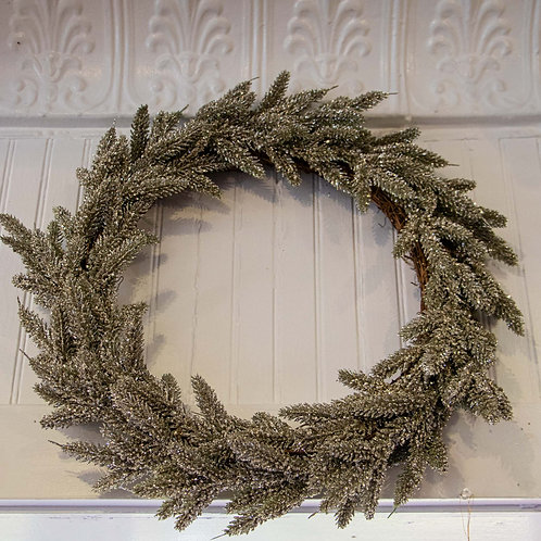 Artificial Fir Wreath Silver 18""