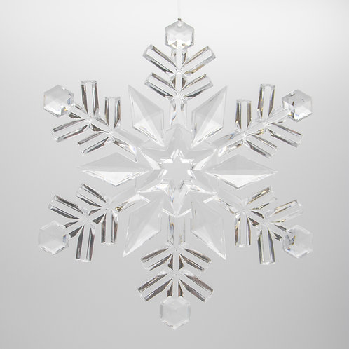 Clear Acrylic Snowflake 9.5""