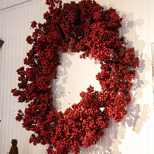 """Artificial Wreath Red Berry 30"""""""