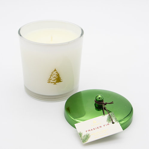 Frasier Fir Poured Candle W/Green Metal Lid
