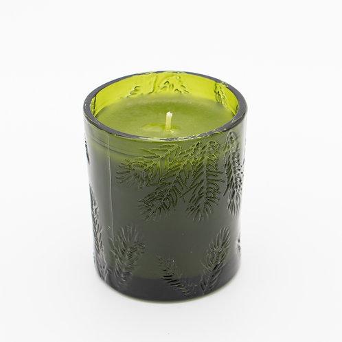 Fraiser Fir Poured Molded Green Glass Candle