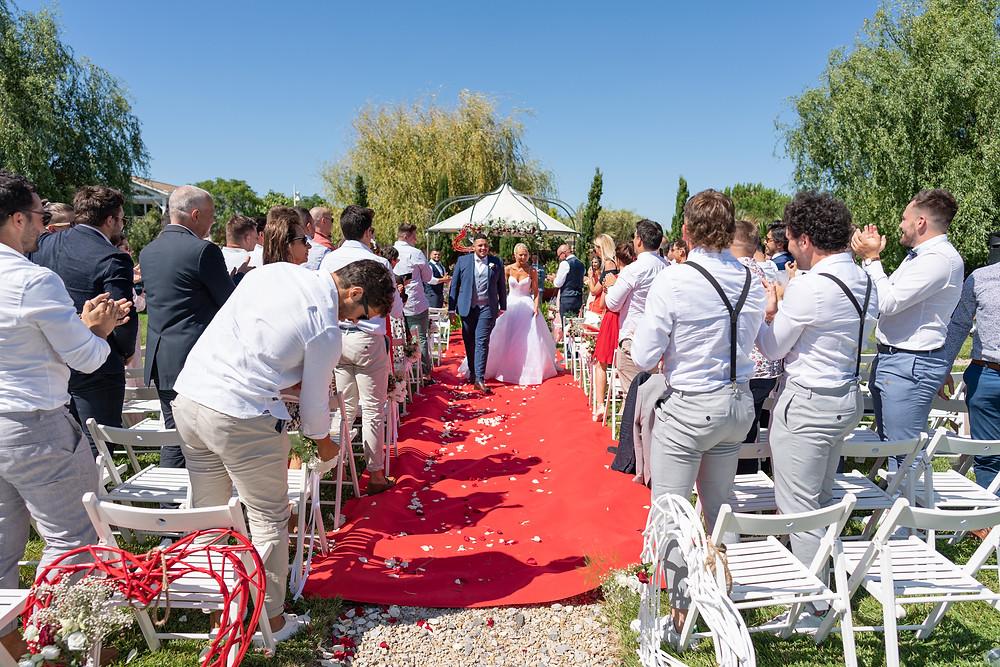 Sortie des mariés cérémonie laïque