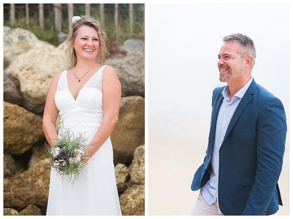 mariage sur la plage des américains