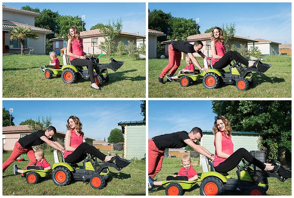 famille jouet tracteur