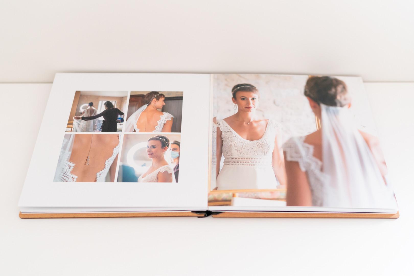 Livre photo mariage bois