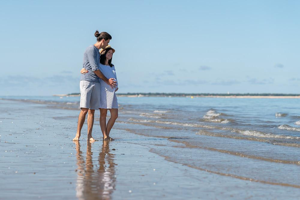 séance grossesse plage Arcachon