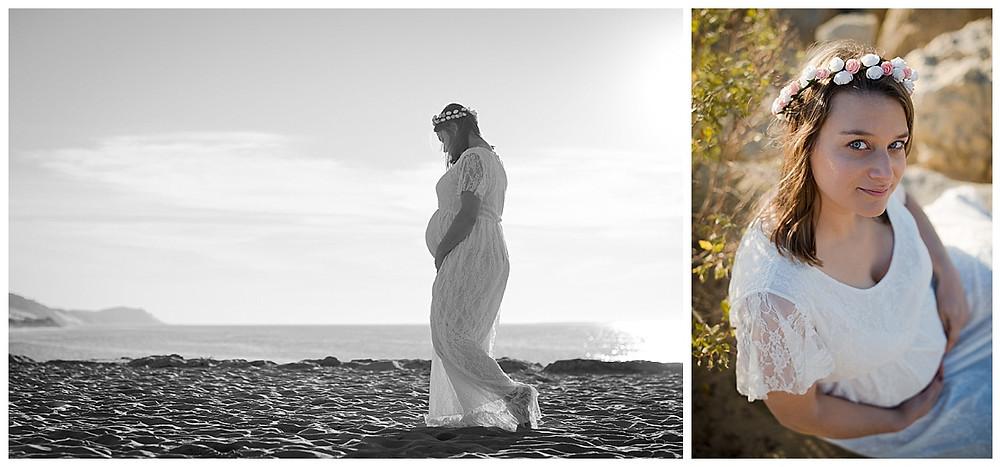 Séance grossesse sur la plage