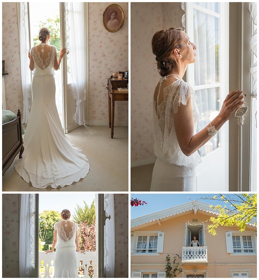 mariée fenêtre robe
