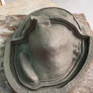 Silicone mold in progress