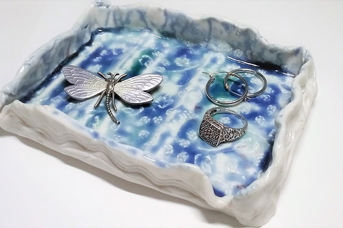 Porcelain jewelry tray