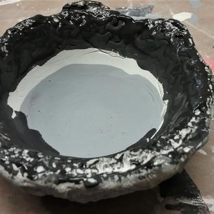 Metallic glazes