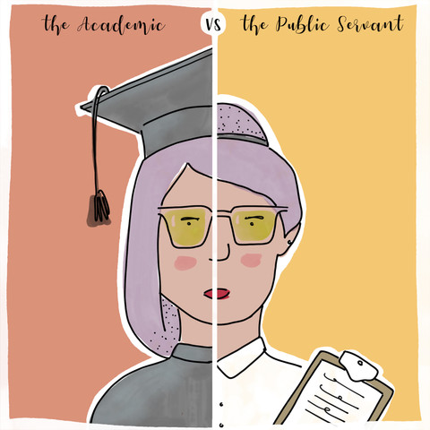 academic vs public servant
