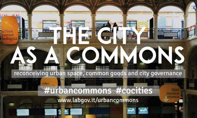 """I am presenting my paper """"Creating the Everyday Commons; Sharing as a means of self-organization versus business as usual"""" at the 1st IASC Thematic Conference on The Urban Commons in Bologna. The conference is organized by the International association for the Study of the Commons (IASC), the Laboratory for the Governance of Commons (LabGov) and Fordham Urban Law Center."""