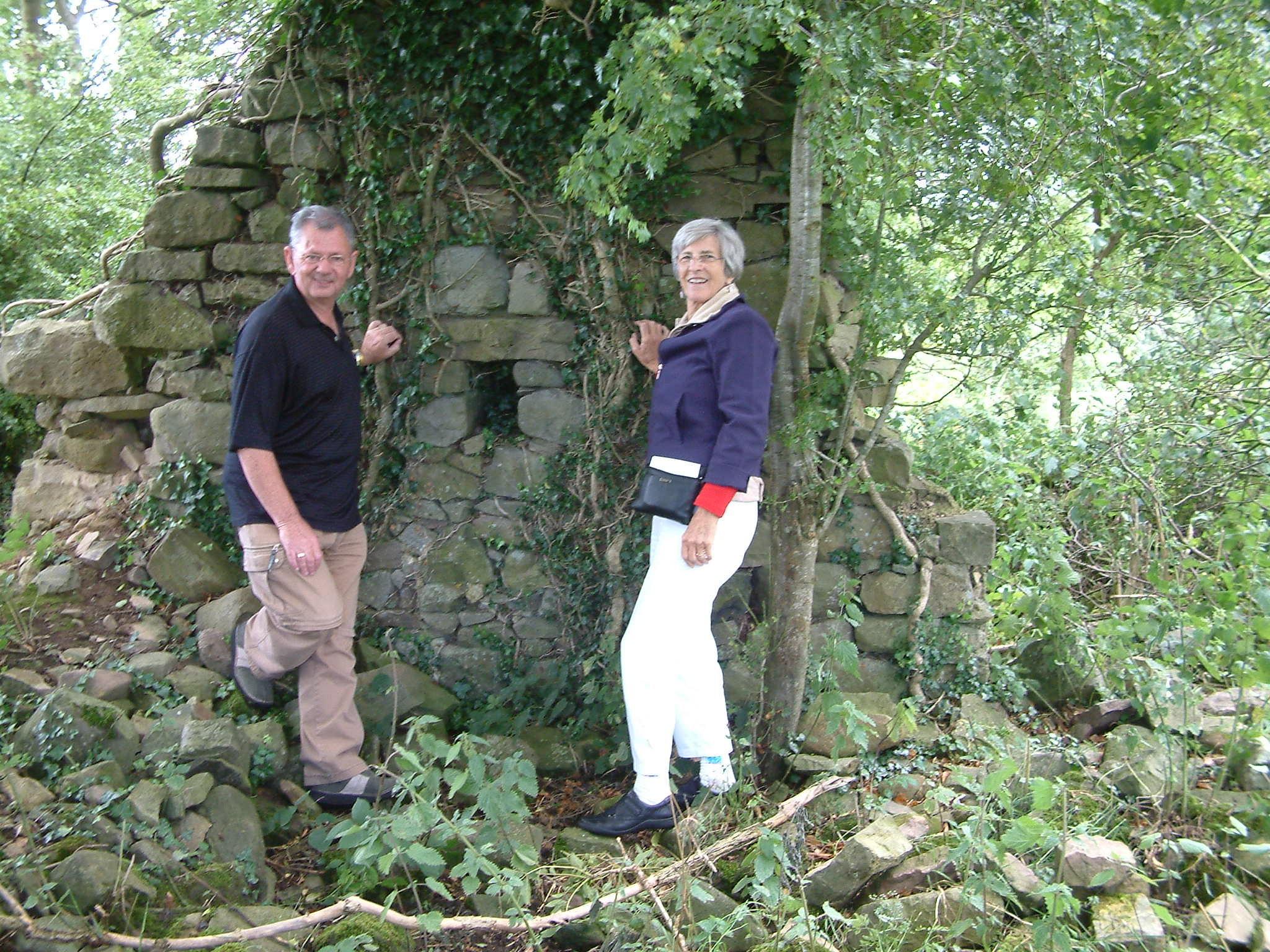 Tina  I at sight of my Grandmothers birth home Drunconrath Ireland (2)