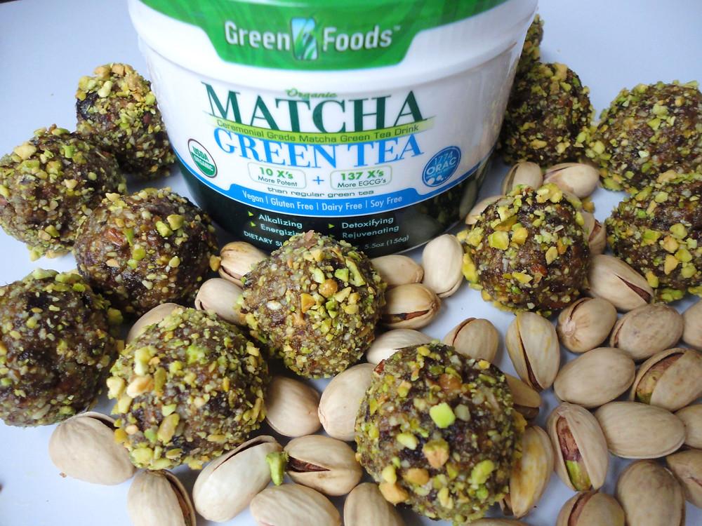 Matcha Pistachio Energy Bites