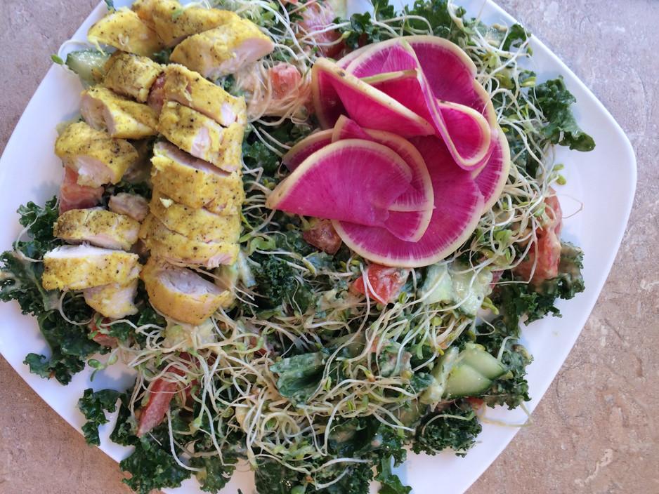 Kale Salad with Creamy Tahini Dressing