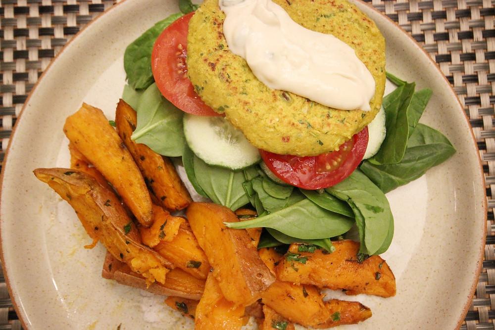 Falafel & Sweet Potato Plate