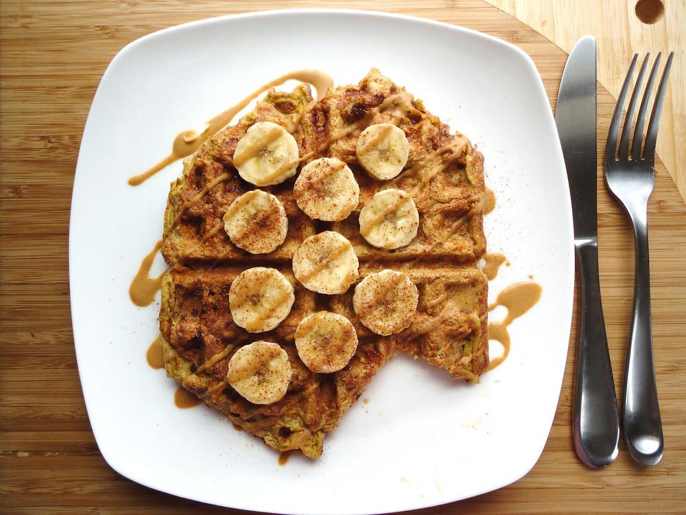 Carrot Cake Banana Waffles