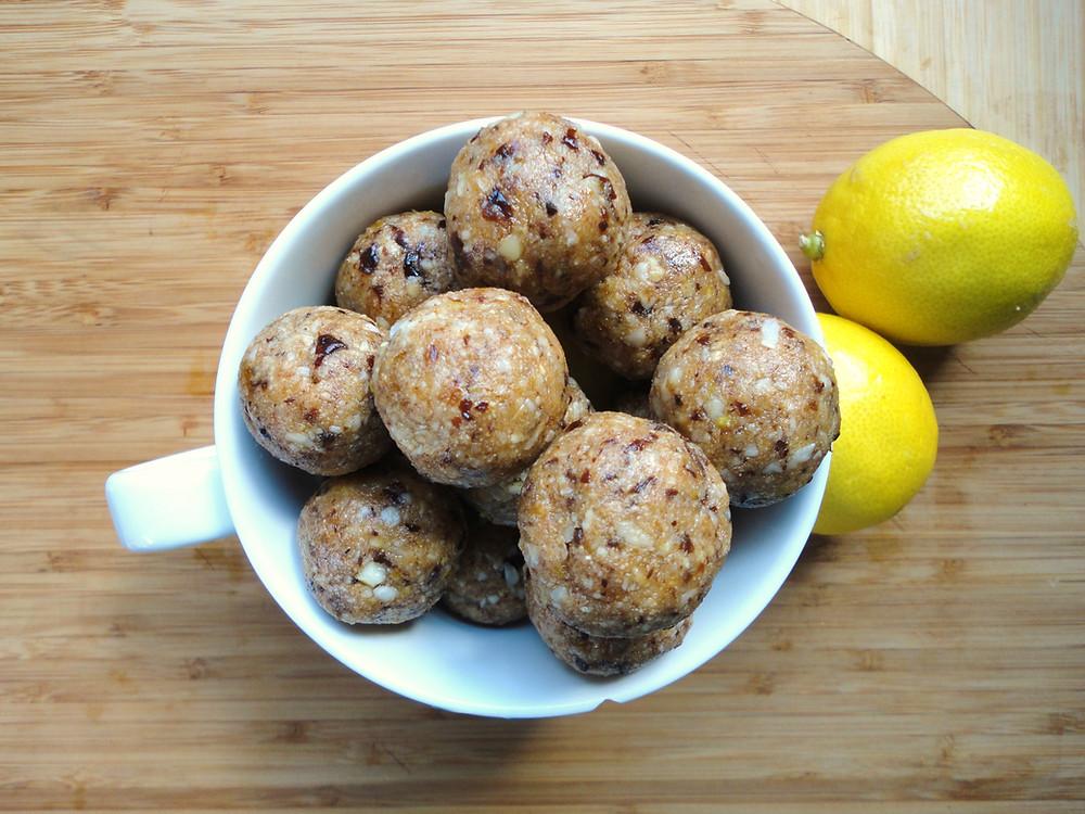 Lemon Coconut Protein Bites