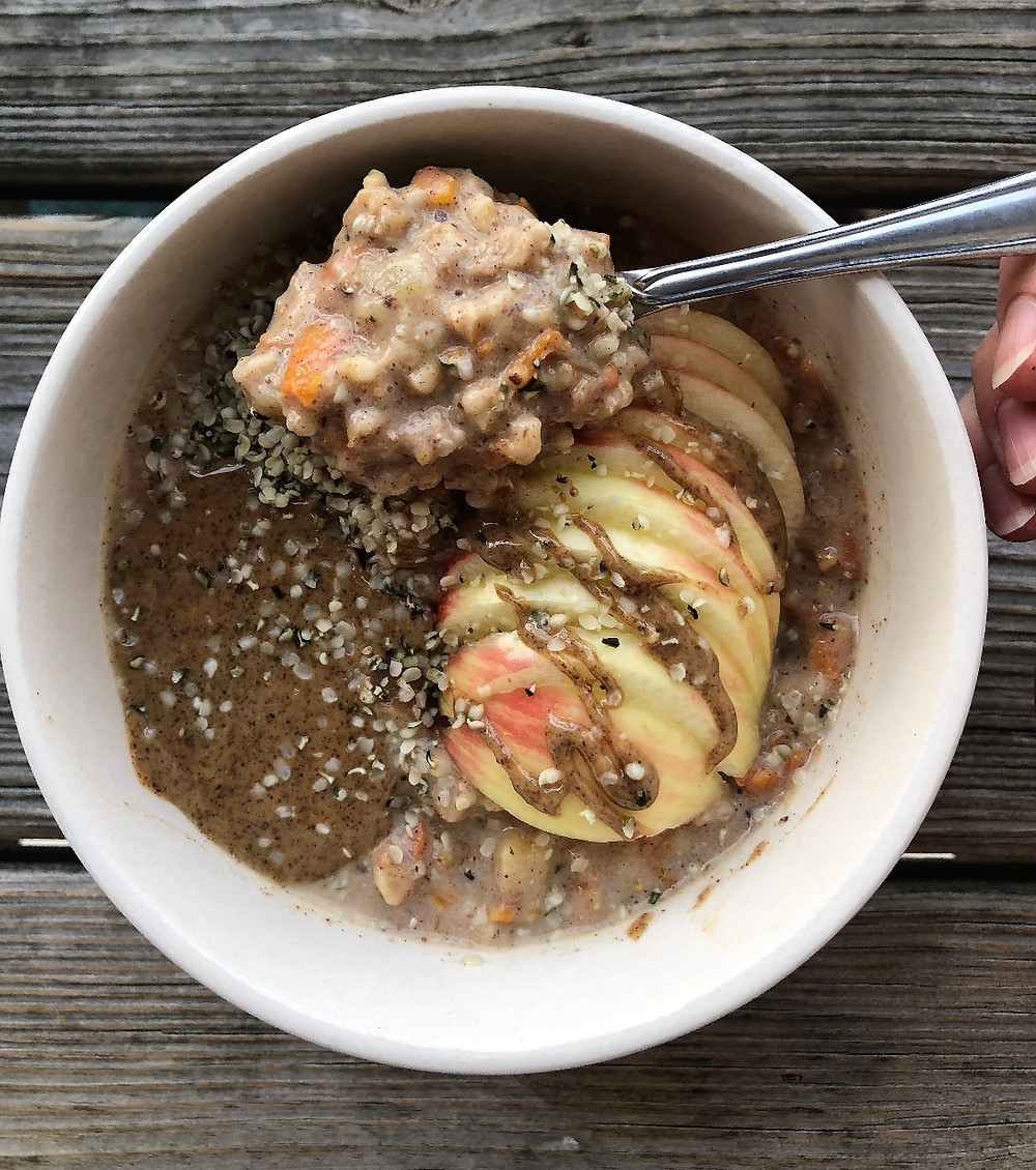 Instant Pot Cinnamon Apple Steel Cut Oats
