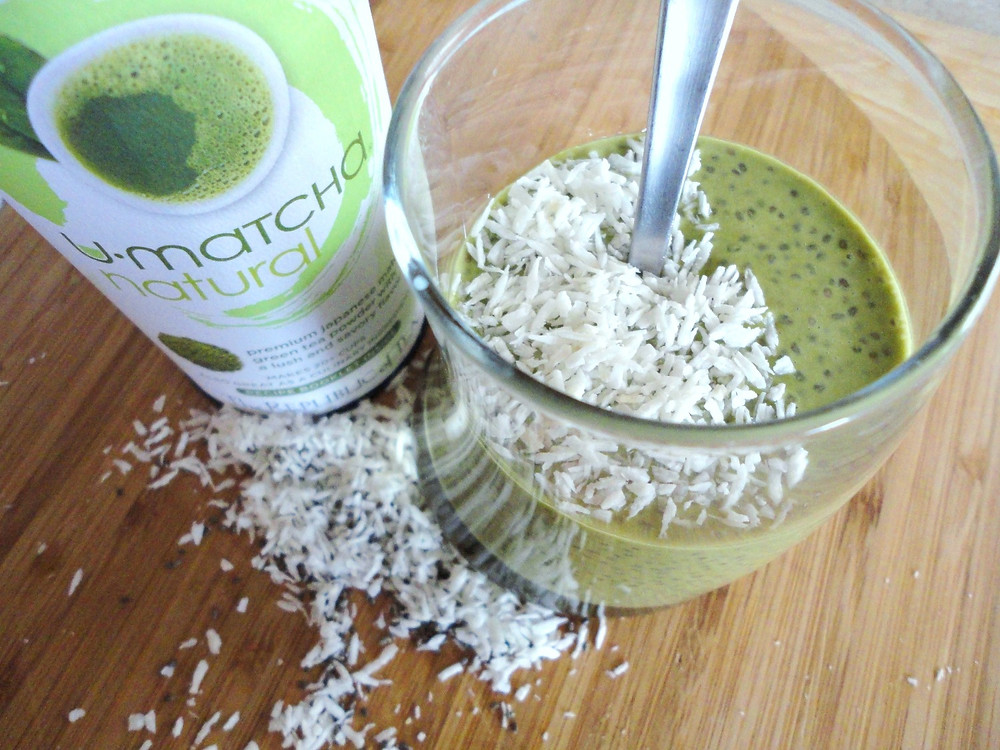 Matcha Coconut Chia Pudding