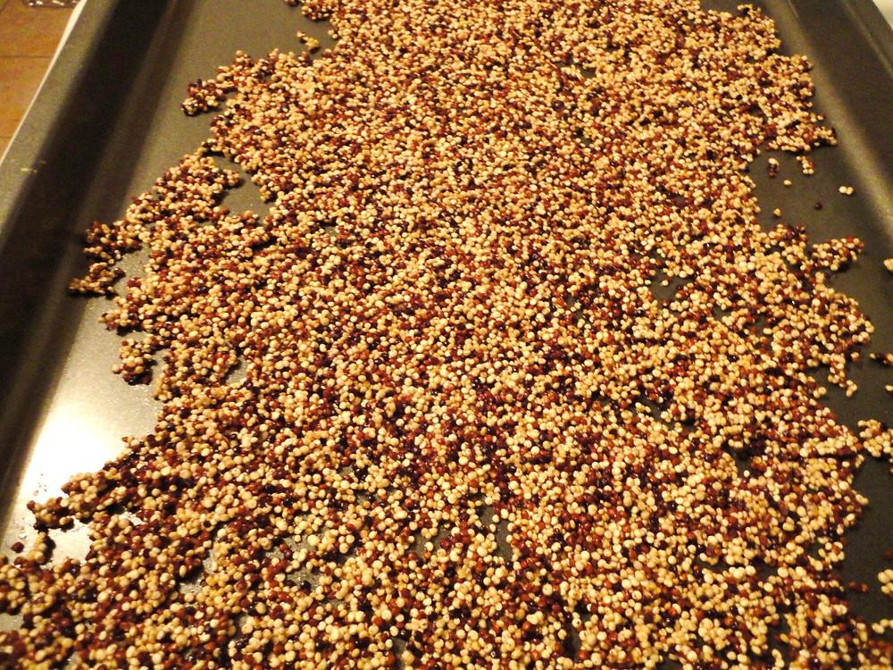 Dark Chocolate Pistachio Quinoa Bark