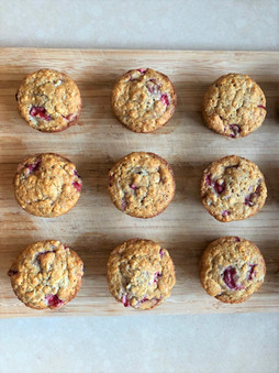 The BEST Healthy Strawberry Banana Muffins