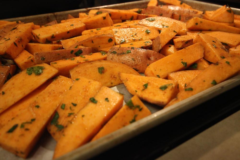 Sweet Potatoes Baking Sheet